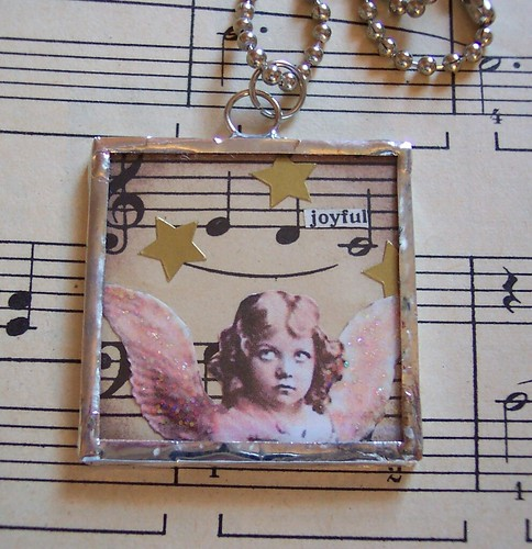 Joyful Angel Soldered Ornament