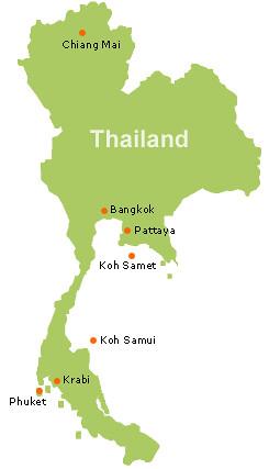 Thailand map II