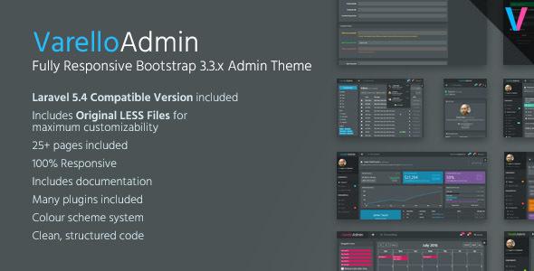 Varello Admin v1.0 - Responsive Bootstrap Admin Template + Laravel Starter Kit