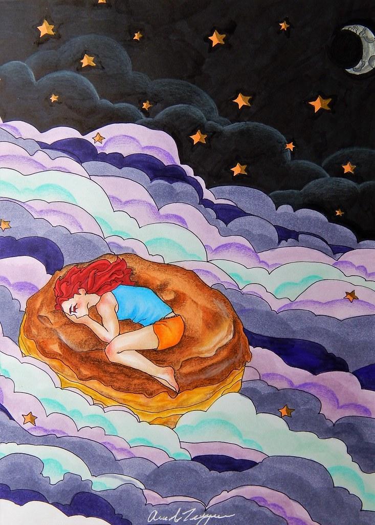 Sweet Dreams | Medium: Copic Marker, Prismacolor colored pen… | Flickr