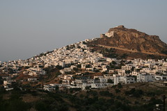 Skyros town in the evening.
