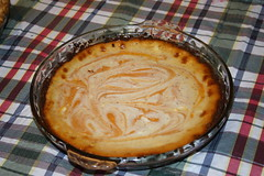 sweet potato pie, baked goods, custard pie, food, dish, dessert, cuisine,