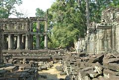 La partie ouest du temple de Preah Khan