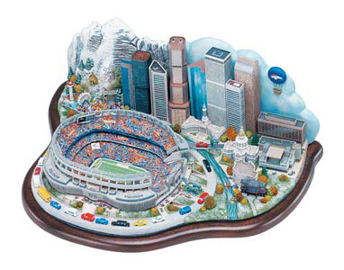... Architectural Collectible diorama - Denver Broncos - Game Day at  Invesco Field  049403d25