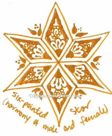 Six-Point Star Tattoos