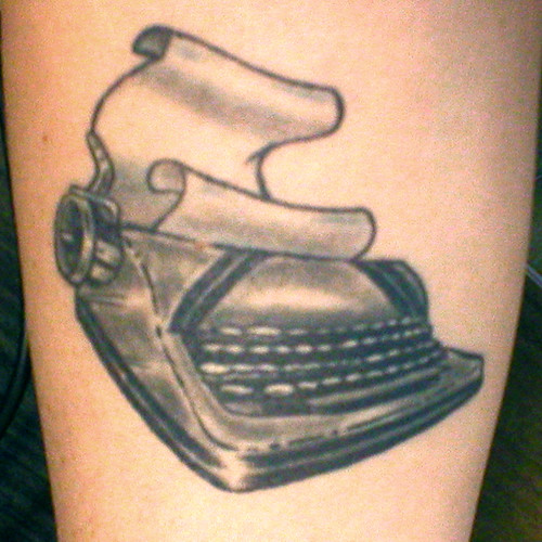 my typewriter tattoo