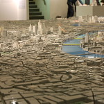 Building Centre scale model of London: view eastward from City to Canary Wharf