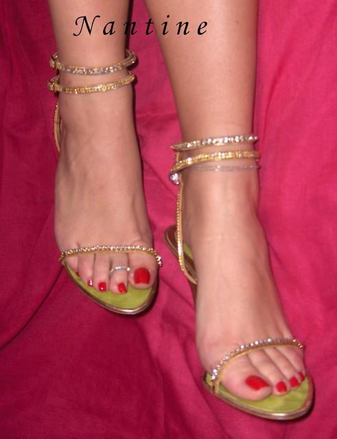 Gold Sandals swarovski Baldinini | Explore Kwnstantina's pho ...