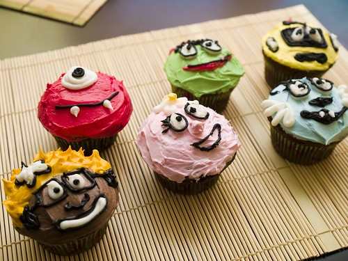 Yo Gabba Gabba cupcakes!