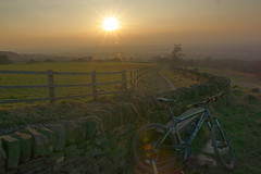 Mountain bike, werneth low, stockport, manchester, UK                               ...