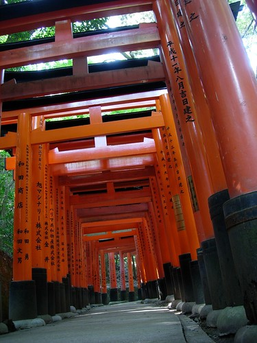 Puertas Tori en Fushimi Inari