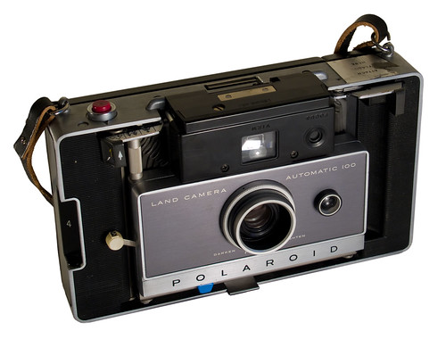 Polaroid Land Camera 100 (folded; cover off)