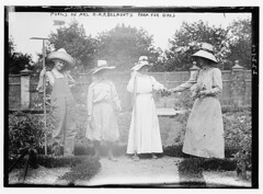 Pupils on Mrs. O.H.P. Belmont's farm for girls  (LOC)