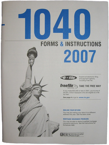 TAX FORM 1040 BOOKLET