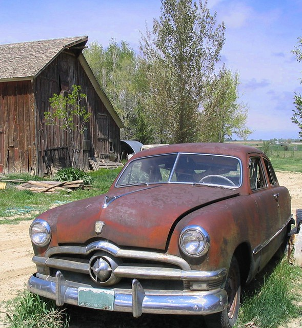 Old Car Near Barn Flickr Photo Sharing