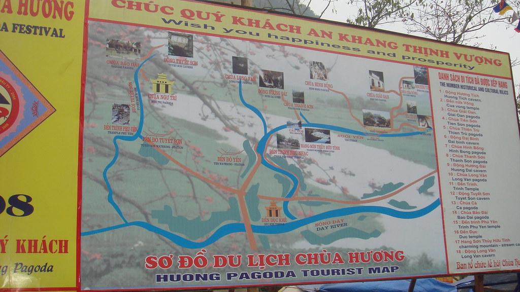 Sơ đồ Bản đồ Du lịch Chùa Hương