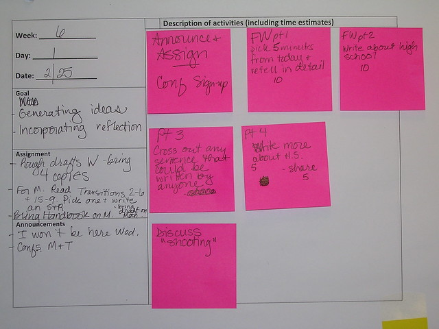 current lesson plan from Flickr via Wylio