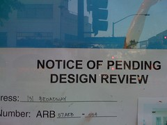 Notice of pending design review