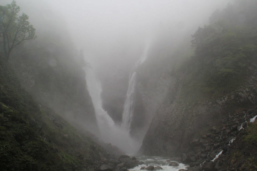 Shomyo Falls i skyet vejr