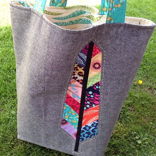 A new tote made with some of my favorite AMH prints.