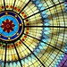 Sunburst Leaded-Glass Dome