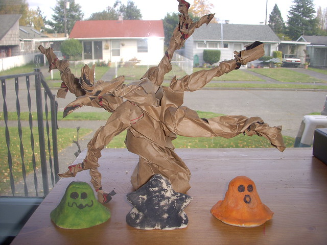 Homemade halloween decorations flickr photo sharing for Homemade decorations
