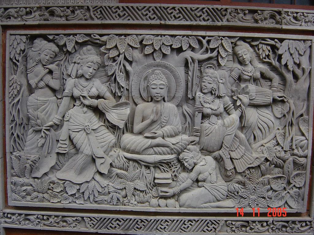 Stone carvings brahma vihara arama banjar bali