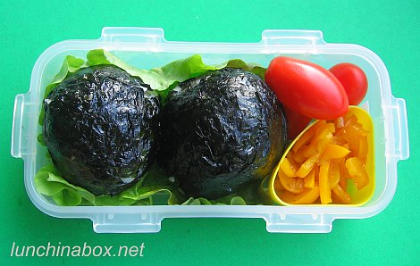 the daily tiffin meatball rice bomb lunch. Black Bedroom Furniture Sets. Home Design Ideas