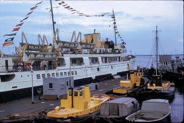 m.v Royal Sovereign at Gillingham pier for Medway Barge race, June 1961