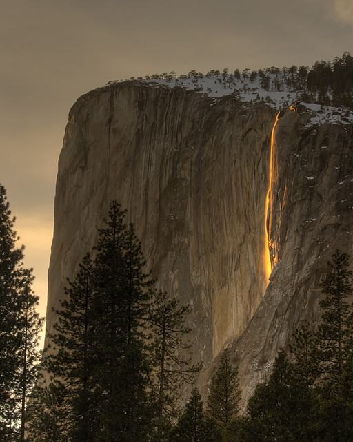 Horsetail Falls on El Capitan