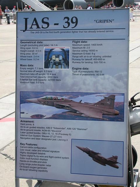 Tafel: JAS-39 Gripen