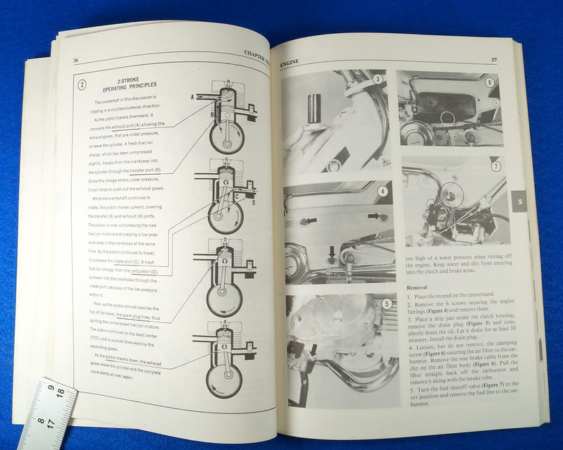 RD15221 Original Vintage Puch Moped Owner Service Repair Manual 1976-1977 DSC08749