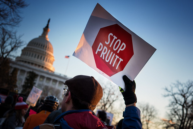photo of stop Pruitt sign