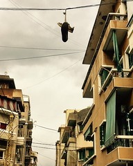 Shoes in the sky