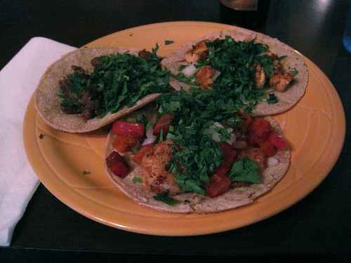 Tacos at Post-Race Dinner at El Tanampa,  in Greensboro