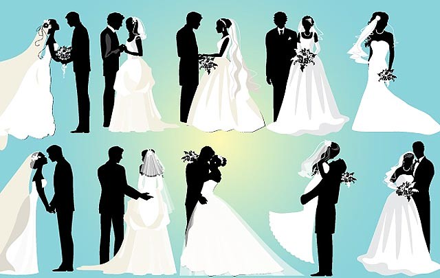 Marriage Couple Black and White Pack fresh best free vector packs kits