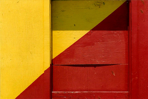 Diagonal in Red and Yellow