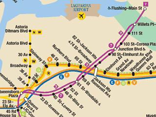 Nyc subway map astoria queens