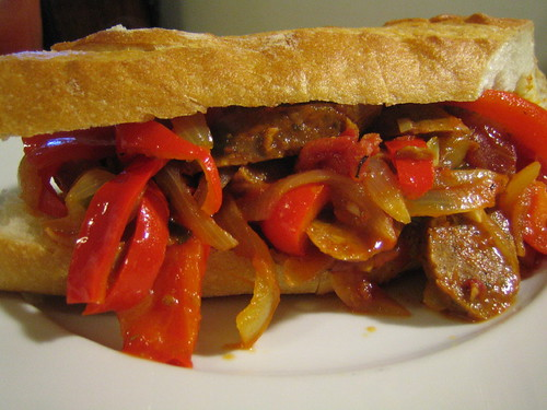 Vegan Sausage, Onions & Peppers!