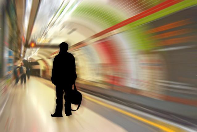 Shadow Man on the Bakerloo line