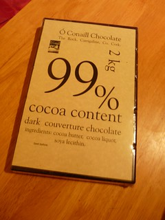 2 kg bar of 99 % chocolate