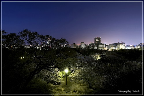 A night view of Fukuoka