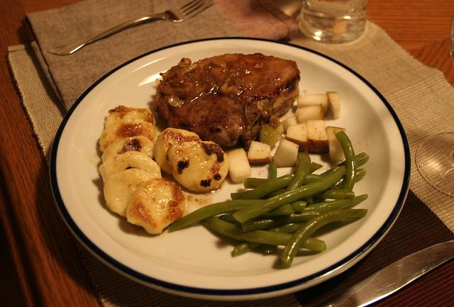Pear and Cumin Pork Chops and Pan-Seared Horseradish ...