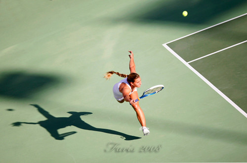 The great action by Dominika Cibulkova (SVK)