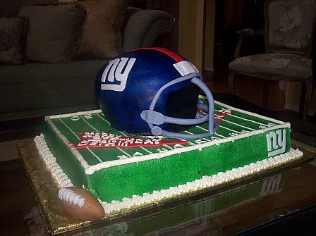 New York Giants Helmet Cake
