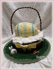 Easter Basket with 3D Egg