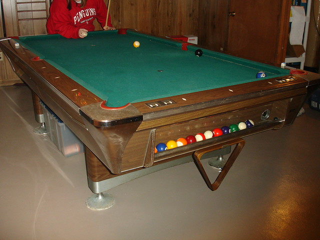 our pool table full size one piece of slate flickr photo sharing. Black Bedroom Furniture Sets. Home Design Ideas