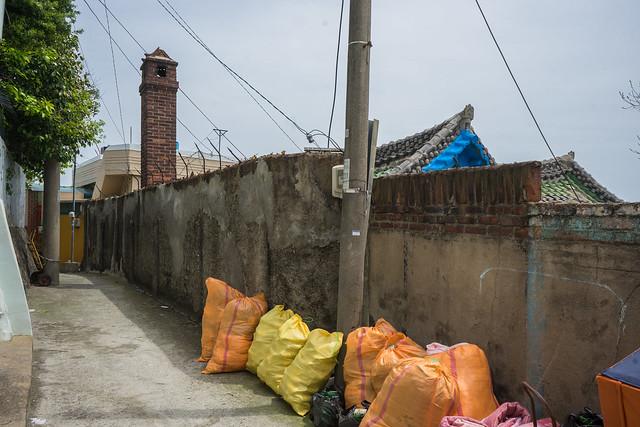 Old brick wall, Yeosu, South Korea