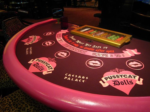 Pussycat Dolls Blackjack Table