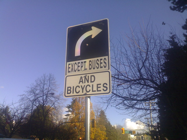 Except Buses And Bicycles